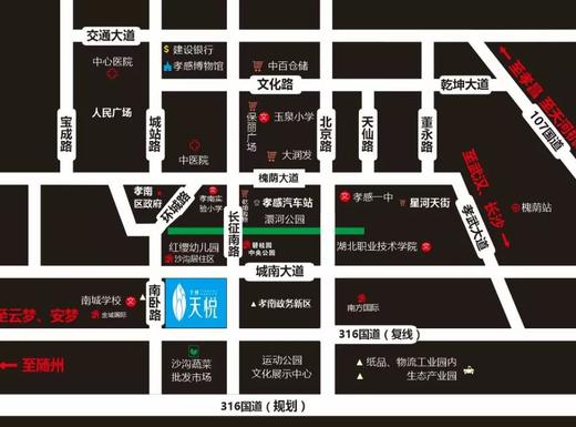 全洲·天悦交通图